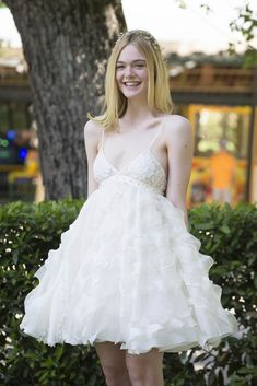 Elle Fanning's baby doll bridal|Lainey Gossip Lifestyle