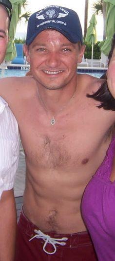 Shirtless Renner