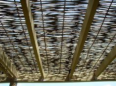 Super cool alternative to an umbrella: 05-Rustic willow shade panel on 2 x 4 frame