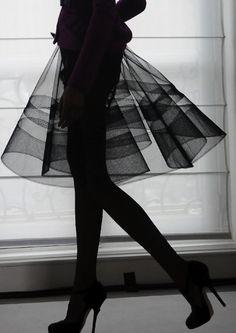 Sheer black skirt