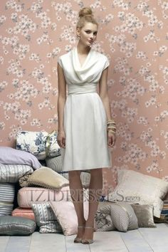 A-Line Sheath/Column Jewel Taffeta Bridesmaids Dresses-this dress comes in other colors, including red.
