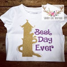 Rapunzel best day ever princess toddler shirt - vinyl, boutique, custom, dresswear, pagent, country tank - princess, glass slippers, glitter by ShabbyChicBoutiques on Etsy https://www.etsy.com/listing/248170819/rapunzel-best-day-ever-princess-toddler