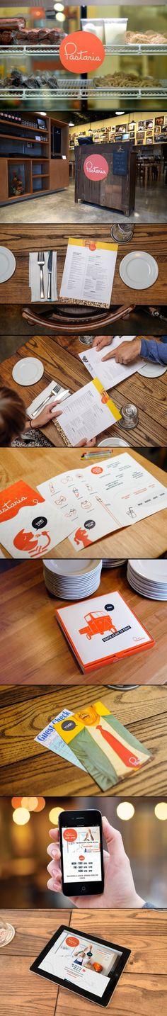 Pastaria by Atomic Dust Identity Branding, Brand Identity Design, Graphic Design Branding, Menu Design, Corporate Identity, Visual Identity, Logo Design, Food Packaging Design, Brand Packaging