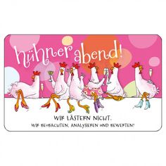 #Einladung #Mädelsabend / Hühnerabend