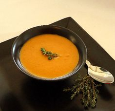 Roasted Carrot Soup -   Roasted Carrot Soup is a simple yet delicious soup that is very easy to prepare. Carrots are roasted until tender. Combined with chicken stock and garlic, then blended until smooth - this healthy and flavorful dish is perfect any time of year