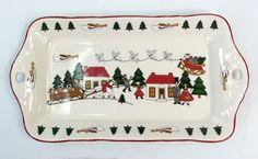 Mason's Ironstone Christmas Village Sandwich Tray Rectangular Serving Platter   eBay