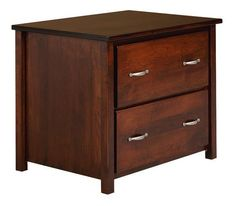 Amish Eshton Lateral File Cabinet Attractive wood file cabinet offered in 4 wood types. Holds legal or letter size files. Made in Amish country.