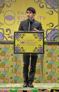 Family Equality Council's Awards Dinner Avpm, Tiger Beat, Pound Puppies, Chris Colfer, Puppy Eyes, Darren Criss, Glee, Equality, First Love