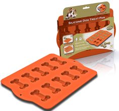 Silicone Dog Treat Pan  I found this on www.activedogtoys.com