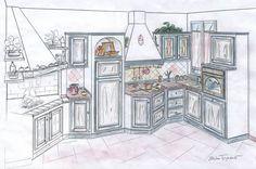 Risultati immagini per progetto cucina in muratura 3d | Casa nuova ...