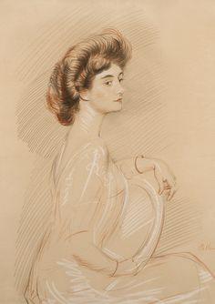 1stdibs | Paul César Helleu - Portrait of a Woman