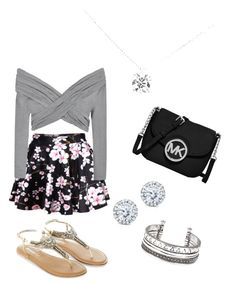 """Grey and silver"" by tsippel ❤ liked on Polyvore"