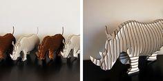 cardboard rhinos