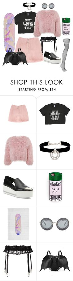 """Sk8ter Grl 💅🏽"" by aurora-cristaux ❤ liked on Polyvore featuring Charlotte Simone, Kenneth Jay Lane, Miu Miu, Miss Selfridge, La Perla and Wolford"