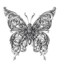 Butterfly tattoo. The detail!