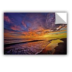 ArtWall Antonio Raggio 'The Sunset' Removable Wall Art (12x18), Blue