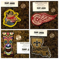 Vintage Iron Patch NOLA Saint sport stitch 90s 80s 80s Villanova 90s 70s Vintage Sew Iron Patch Embroider wildcats rutger Jersey brooklyn Superman comic marvel la Lakers Kobe bryant Jordan jumpman unused patches. Comes w semiperm adhesive upon request. Stitch on to denim jacket, jeans, bomber puffer coat or use RAPjaxx ironon. We Will stitch for you!!! ASK US BY check out @ RAPJAXX dot com and thx for shopping RAPJAXX LOS ANGELES 90's 80's urban hiphop streetwear, sports pins & DAD HATS MLB…