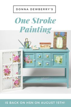Do you LOVE Donna Dewberry and the One Stroke Method of Painting?  Make sure you check her out on Wednesday, Aug. 15th on HSN