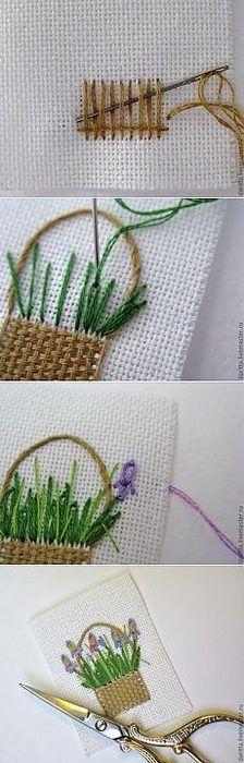 刺绣·花篮