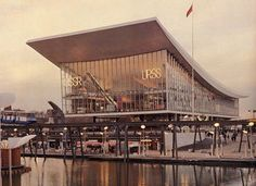 """The Pavilion of the USSR AT THE INTERNATIONAL EXHIBITION EXPO-67 in Montreal (in our days - pavilion """"Moscow"""") Architects: M. Posokhin, a. Mndoyants, b. Tkhor Engineer: a. Kondratiev Artist: R. Kliks Moscow Year of construction: 1967"""