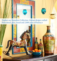Explore our Rajasthan Collection: Artisan designs crafted from metal, glass, wood and 2,000 years of history. Pier 1