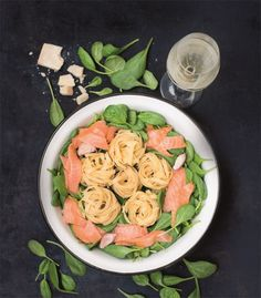 One Pot Pasta: Lachs & Spinat