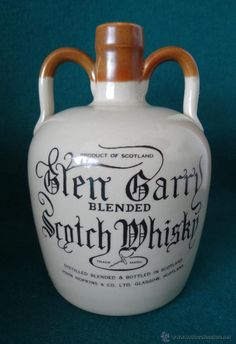GLEN GARRY. SCOTCH WHISKY.  JOHN HOPKINS & CO. GLASGOW. SCOTLAND.  CANECO CERAMICO.