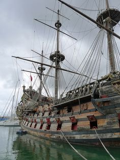 Genoa harbour, old vessel used in a pirate movie,