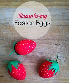 Stawberry Easter Eggs