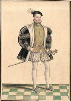 François II, roi de France (Gaignières 976) -- Dessin d'une peinture, Fonds Gaignières [BNF Bouchot, 976] -- «François II. du nom, Roy de France. Mort en 1560.»