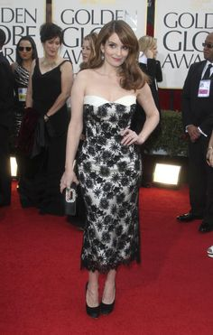 Photos from the Red Carpet: The 70th Annual Golden Globe Awards - Tina Fey #30Rock