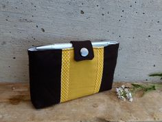 Fabric Moleskine case in yellow and brown. Moleskine wallet with pen holder. Journal case by MadameRenard on Etsy https://www.etsy.com/listing/43106404/fabric-moleskine-case-in-yellow-and