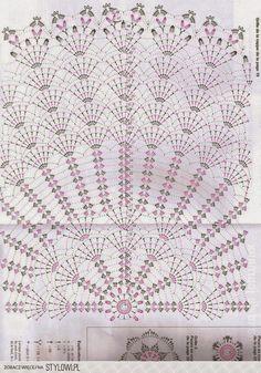 Kasia at home and garden: The eighth wonder of the world, i.- Kasia w domu i ogrodzie: Ósmy cud świata, czyli….szydełkowy abażur Kasia at home and in the garden: The eighth wonder of the world, i. … a crochet lampshade - Filet Crochet, Crochet Doily Diagram, Crochet Doily Patterns, Crochet Mandala, Crochet Chart, Thread Crochet, Crochet Motif, Crochet Doilies, Crochet Stitches