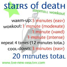 A 20 minute stepmill workout that will kick your butt!