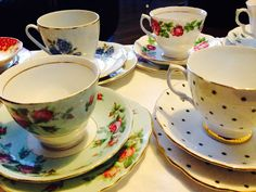 Tea cup trios for hire