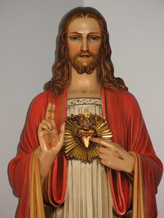Statue of the Sacred Heart of Jesus inside St. Cecilia's Church in Rockaway, NJ.