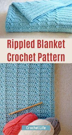 Quick Crochet Blanket, Fast Crochet, Baby Afghan Crochet, Crochet Bebe, Baby Afghans, Crochet Blankets, Crochet Stitches Patterns, Crochet Designs, Crochet Crafts