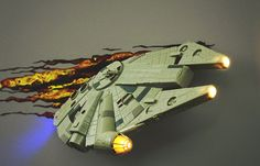 3D Star Wars Millennium Falcon Wall Light