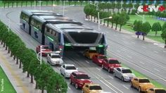 Engineers in China have designed a novel new transportation method in the form of an enormous elevated bus which may make traffic jams a thing of the past.      The innovative vehicle, dubbed the 'Transit Elevated Bus,' would cruise along Chinese highways passing over cars and trucks that are driving below it.       Propelled via rails embedded in the road, the giant bus is designed to seat an incredible 1,200 passengers in its three massive carriages.      The engineer tasked wi...