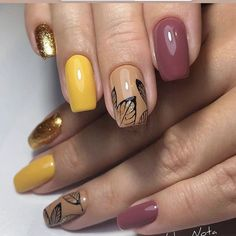50 elegant fall nail art designs that will beautify your look page 54 Classy Nail Designs, Fall Nail Art Designs, Trendy Nail Art, Autumn Nails, Classy Nails, Hot Nails, Square Nails, Holiday Nails, Nail Trends