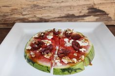 Merlots Mouth Watering Watermelon Slice Salad #DairyFree #Vegan #PlantBased #Eat #Snack #Recipe #VeganCheese #GreekFrauxmage #DairyFreeCheese #GlutenFree Dairy Free Cheese, Vegan Cheese, Fromage Vegan, Watermelon Slices, Yummy Food, Tasty, Latest Recipe, Avocado Egg, Sans Gluten