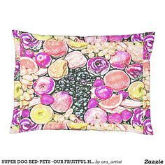 SUPER DOG BED-PETS -OUR FRUITFUL HOME COLLECTION LARGE DOG BED