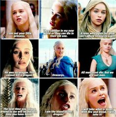 Game of Thrones quotes- Daenerys Targaryen, Emilia Clarke - Favourite lines by hollandes Got Game Of Thrones, Game Of Thrones Quotes, Game Of Thrones Funny, Winter Is Here, Winter Is Coming, Fandoms, The Mother Of Dragons, Game Of Throne Daenerys, Good Movies