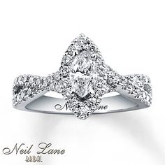 Nice band, would like a simple marquise stone though. KMB. Neil Lane Engagement Ring 1 ct tw Diamonds 14K White Gold
