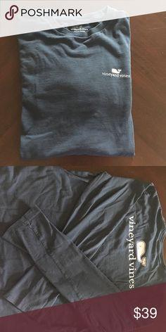 Vineyard vines boys long sleeve shirt XL. Vineyard vines BOYS long sleeve shirt. Size: XL. Color: Midnight blue. Price: $39. USED ONCE!! Vineyard Vines Shirts Tees - Long Sleeve