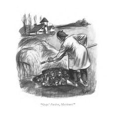 Pardon by John Ruge , Framed Artwork, Wall Art, New Yorker Cartoons, The New Yorker, Find Art, Giclee Print, Original Art, Art Prints, Artist