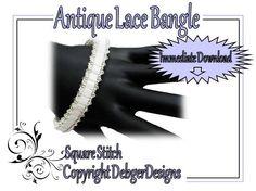 Antique Lace Bangle -Tila Beading Pattern Tutorial