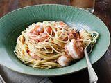 Lemon Pasta with Roasted Shrimp Recipe