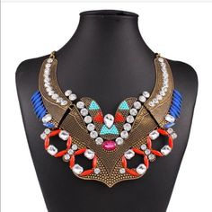 Antique Look  Gold Boho Bib Necklace Details to come! Jewelry Necklaces