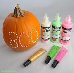 Glow in the Dark Puffy Paint Polka-dot Pumpkin - Live #Dan330